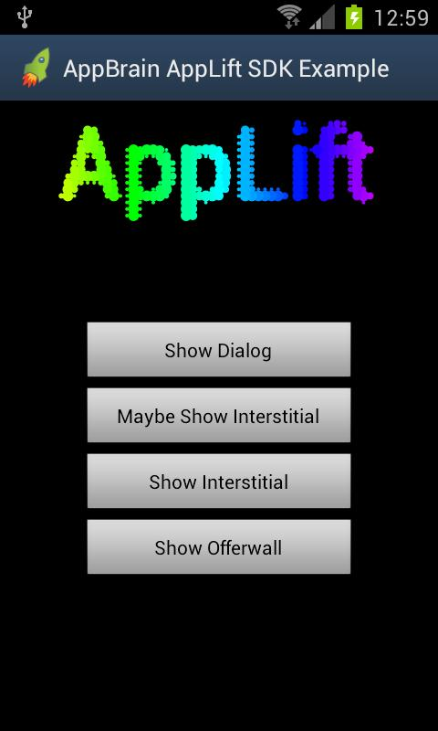 AppBrain SDK demo- screenshot