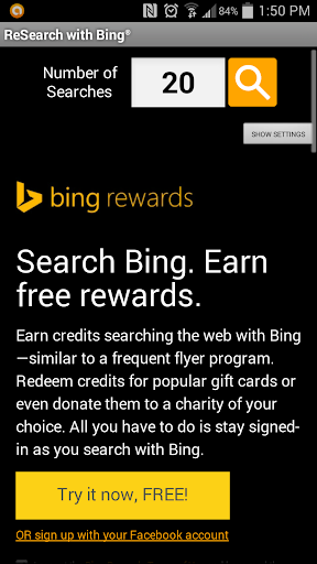 ReSearch with Bing