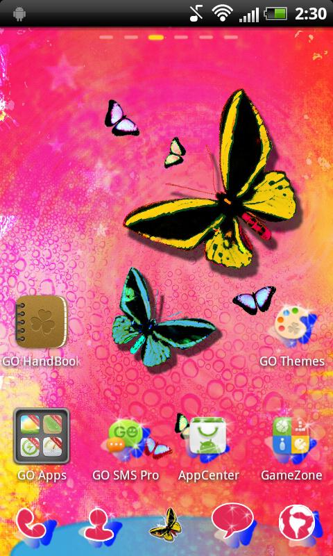 GO Launcher EX Theme Butterfly- screenshot
