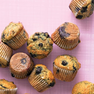 Healthy Banana-Blueberry Muffins.