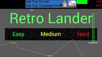 Screenshot of Retro Lunar Lander