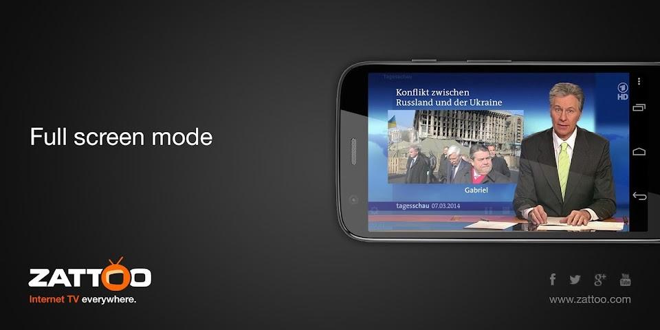 android Zattoo Live TV Screenshot 2