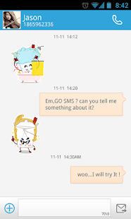 GO SMS Pro Chowmein Sticker - screenshot thumbnail