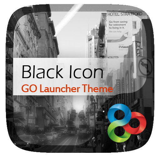 Black Icon GO Launcher Theme