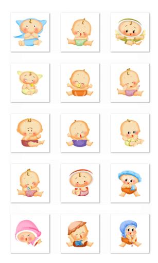 Cute Baby Stickers-WhatsApp