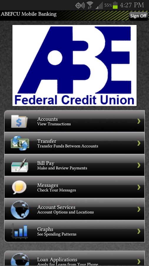 ABE FCU Mobile Banking - screenshot