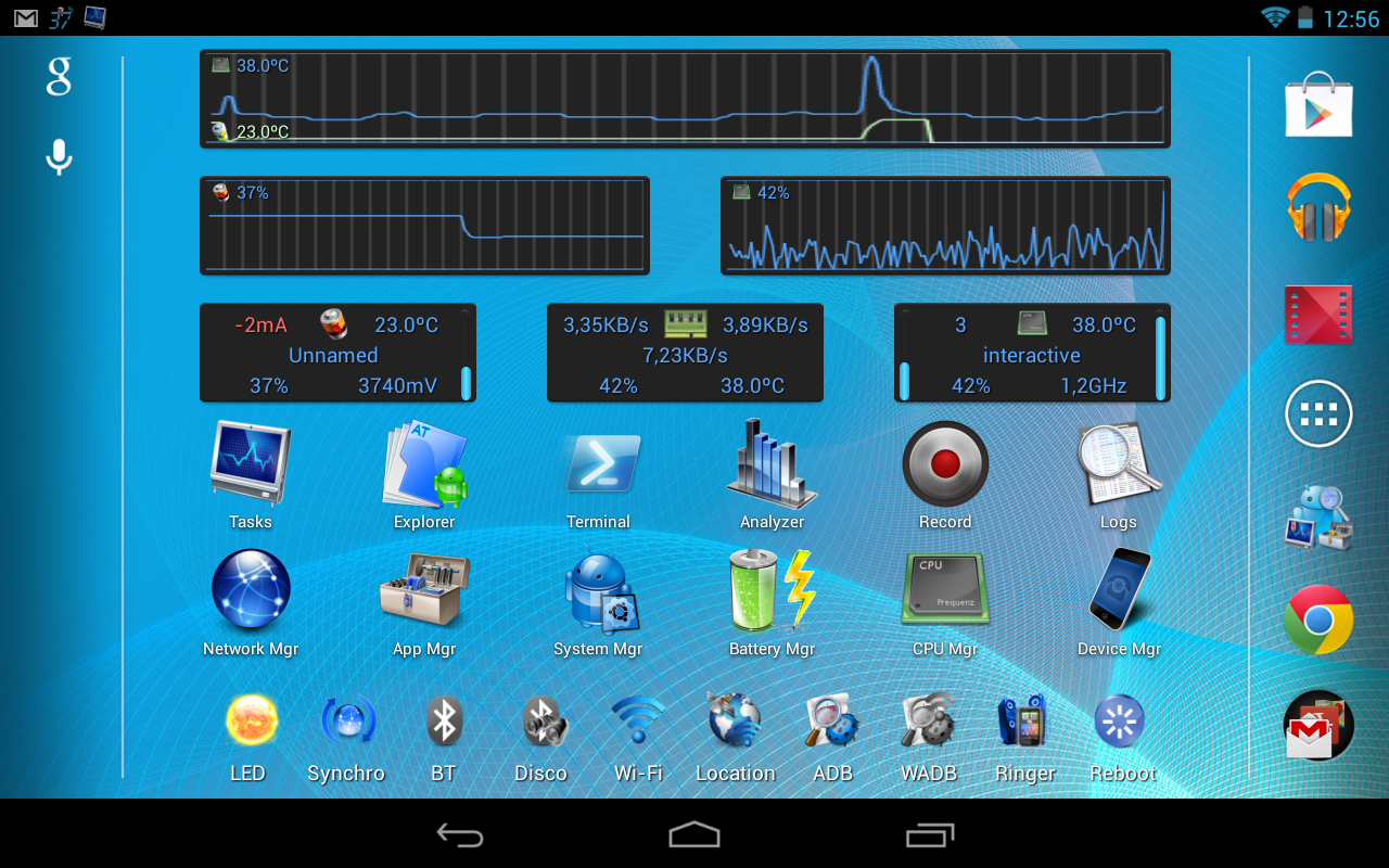 Android Tuner - screenshot