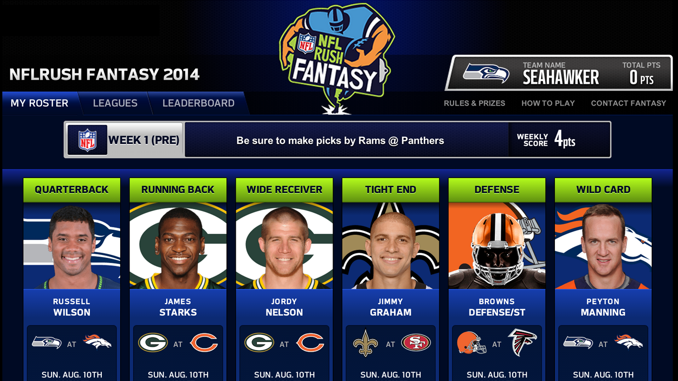 NFLRUSH Fantasy Football- screenshot
