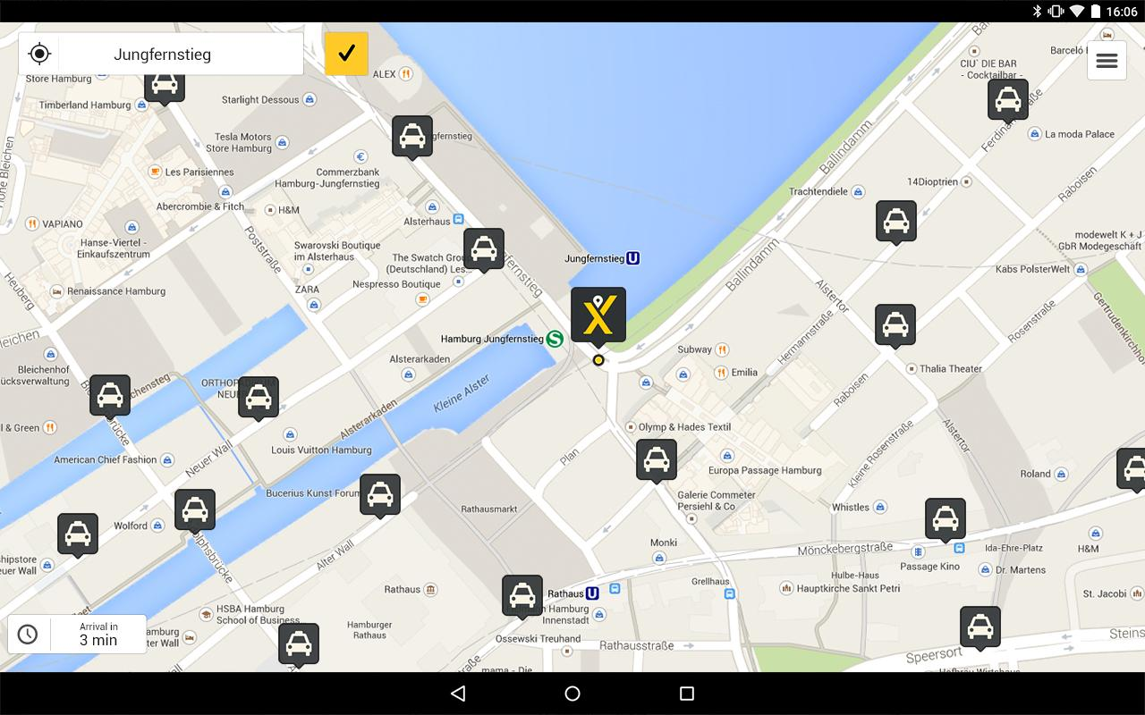 mytaxi – The Taxi App- screenshot