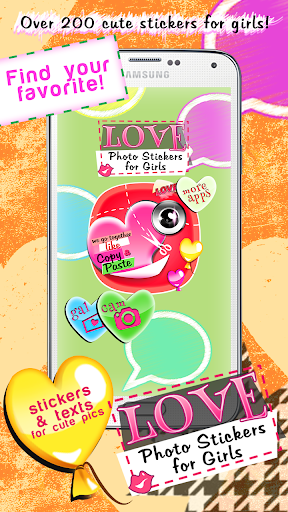 Love Photo Stickers for Girls