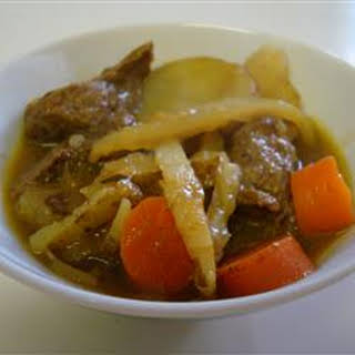 Beef Curry Soup.