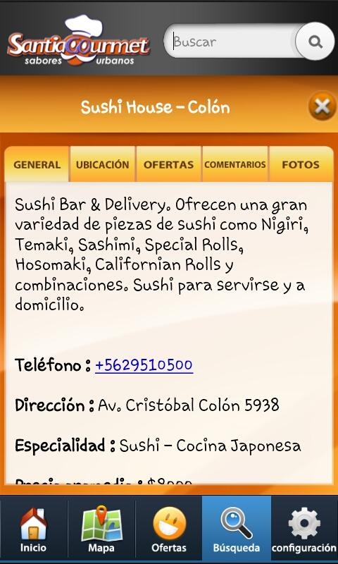 Santiago Gourmet- screenshot