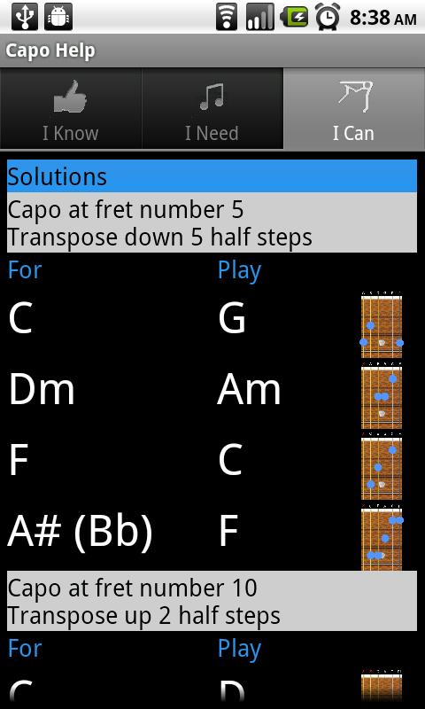 Capo Help - screenshot