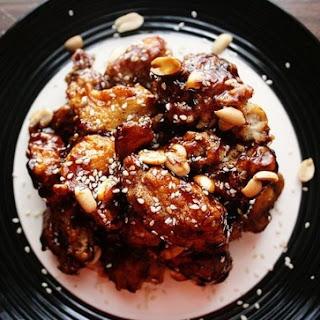 Making Dak-Kang-Jung (닭강정) / Korean Crispy Chicken with Sweet & Spicy Sauce