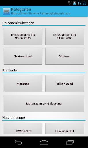 KFZ-Steuer Rechner