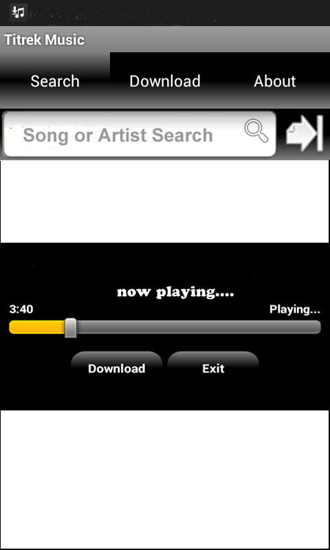 mp3 music download - screenshot