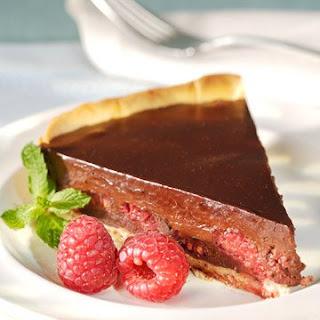 Chocolate and Raspberry Tart.