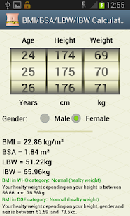 BMI/BSA/LBW/IBW-Healthy Weight- screenshot thumbnail