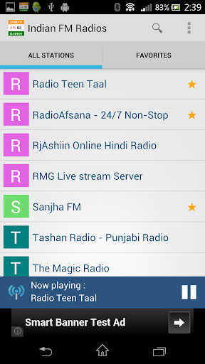Indian FM Radios:100+ stations