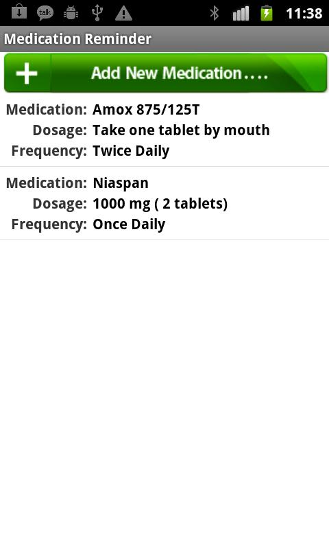 Medication Reminder- screenshot