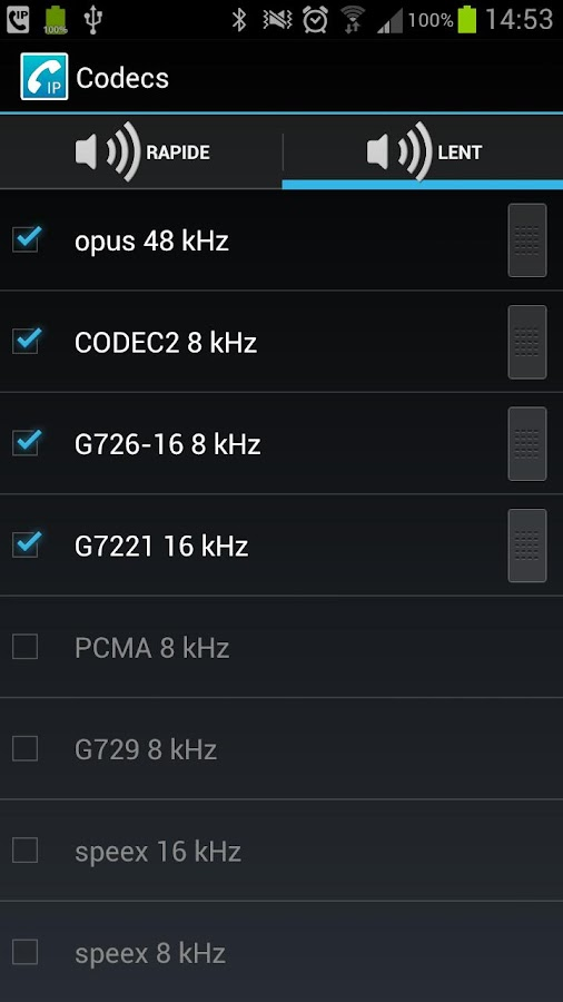 Codec Pack for CSipSimple- screenshot