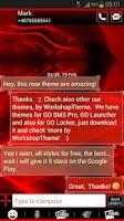 Screenshot of GO SMS Pro Theme Fire Flame