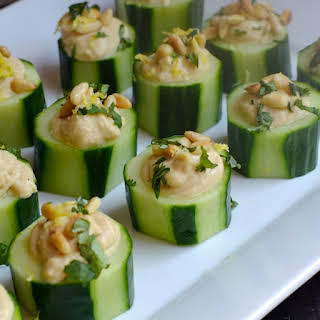 Cucumber Hummus Appetizer Recipes.