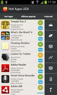 Hot Apps- screenshot thumbnail