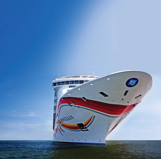 Norwegian-Sun-bow - Norwegian Sun sails to the  Caribbean in winter and to Alaskan ports in summer.
