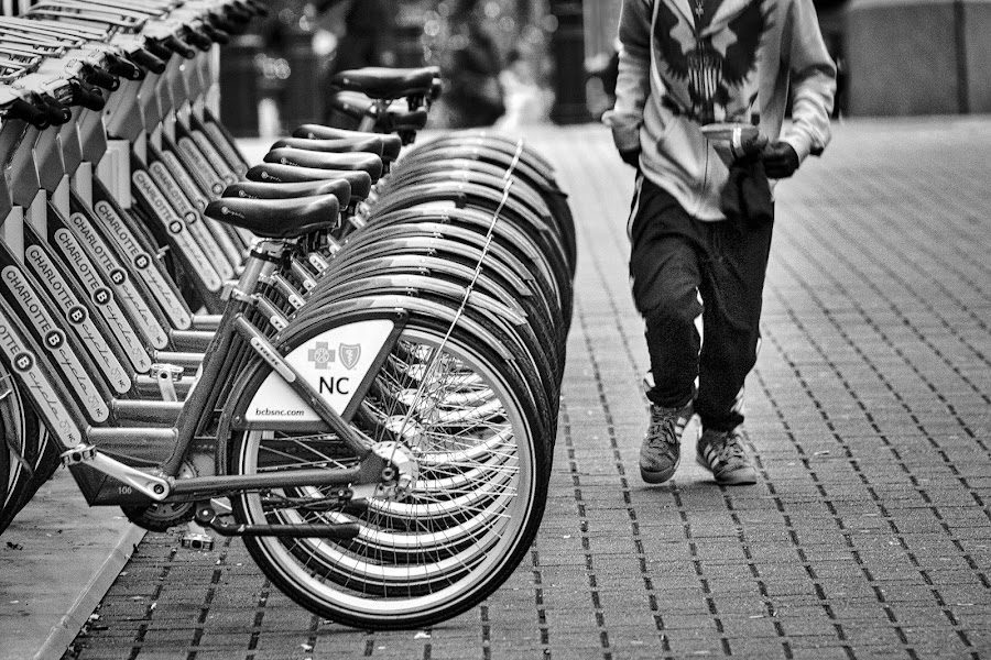 Charlotte Bikes by Lou Plummer - Black & White Street & Candid (  )
