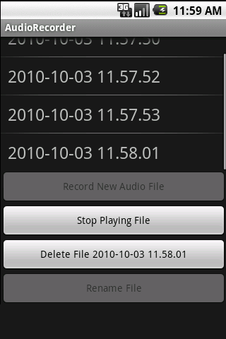 Audio Recorder - screenshot