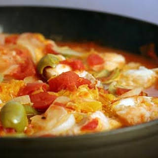 Ling Cod with Tomato and Orange.