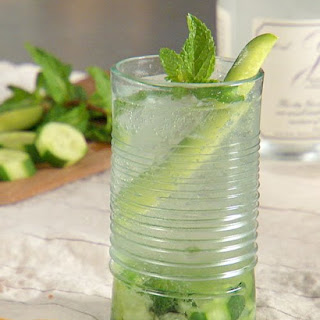Cucumber-Mint Gin and Tonic.