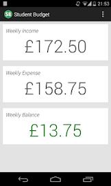 Student Budget Screenshot 1