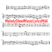 Melody Sheet Music Lyrics Midi