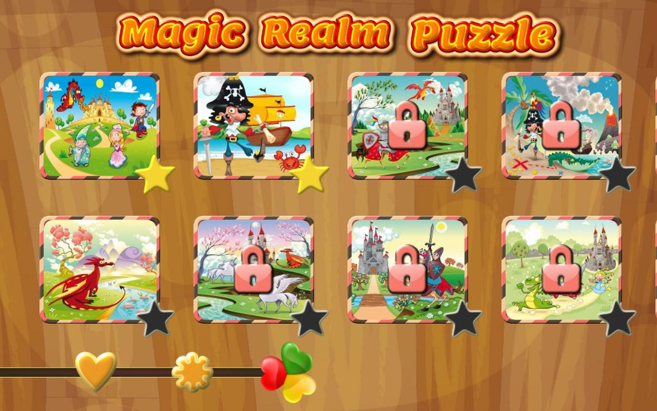 Magic Realm Puzzles for kids - screenshot