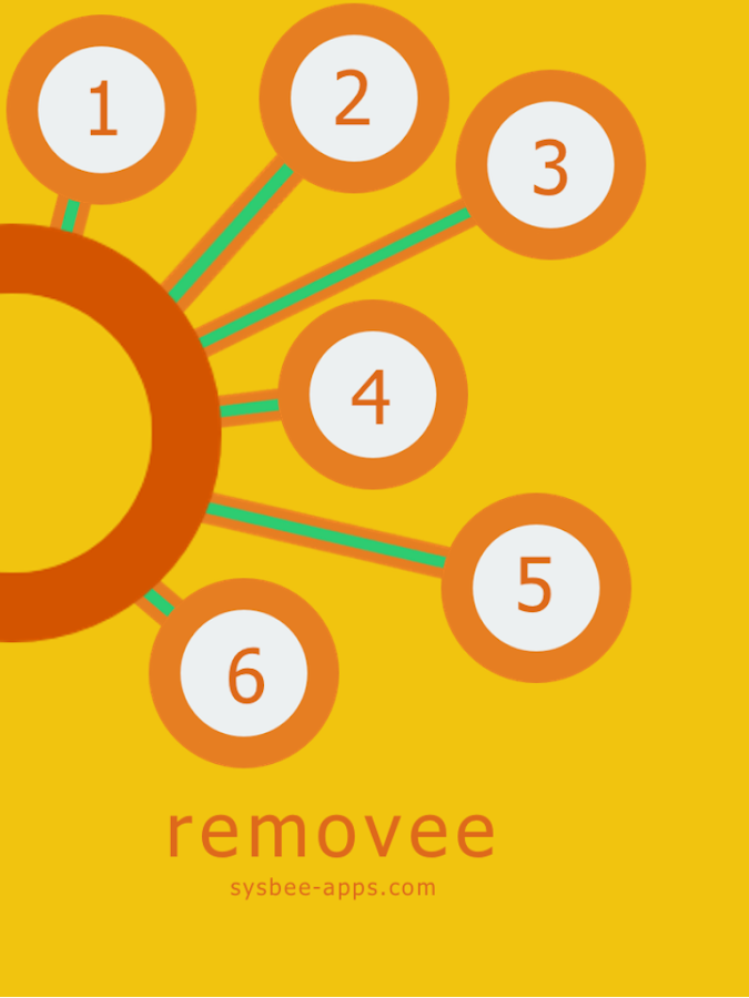 removee - a flat design puzzle - screenshot