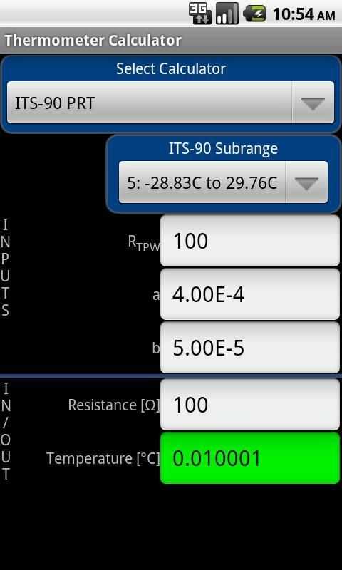 Thermometer Calculator- screenshot