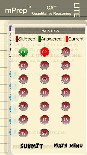 玩教育App|mPrep CAT Quant (Lite)免費|APP試玩