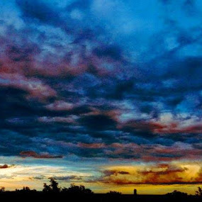 by Nat Bolfan-Stosic - Landscapes Cloud Formations ( clouds, village, dark, storm, stormy, weather )