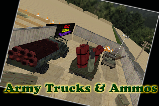 Army Trucker Transporter 3D