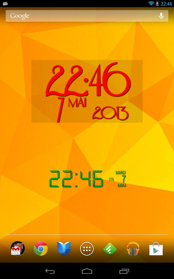Easy Clock Widget - screenshot