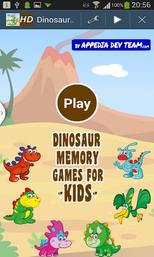 Dinosaur Memory Games for Kids