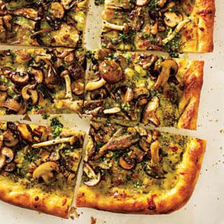 Four Mushroom Pesto Pizza Recipe