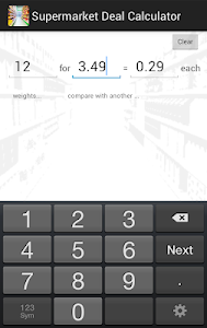 Supermarket Deal Calculator screenshot 0
