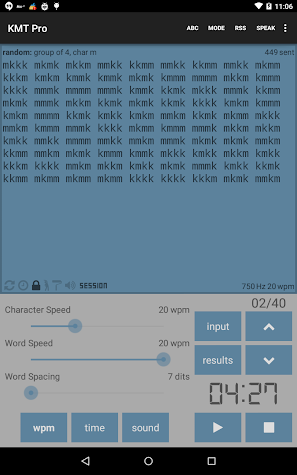 Koch Morse Trainer Pro Screenshot