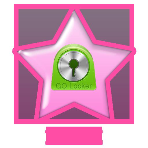 Pink Christmas Go Locker Theme LOGO-APP點子