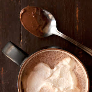 Nutella Hot Chocolate with Hazelnut Liqueur.