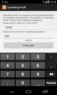 Account: Accounting Calculator Screenshot