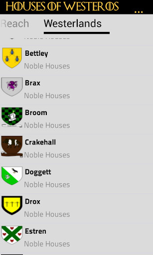 Houses of Westeros